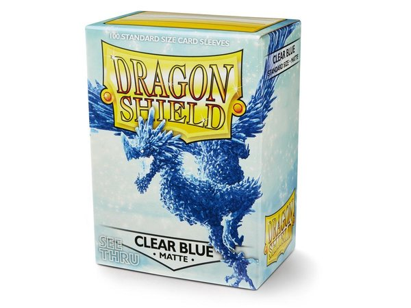 Dragon Shield Sleeves Matte Clear Blue (100)