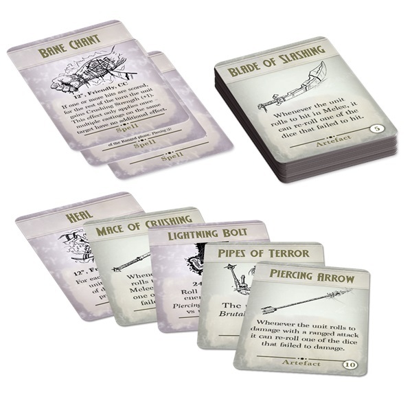 Spell & Artefact Cards - Kings of War 3rd Edition *PRE ORDER*