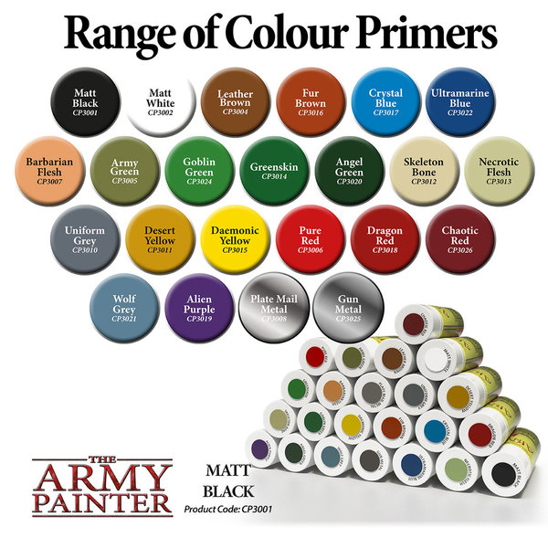 Spray Can Colour Primers - The Army Painter