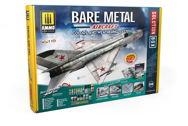 BARE METAL AIRCRAFT COLORS AND WEATHERING SYSTEM SOLUTION BOX