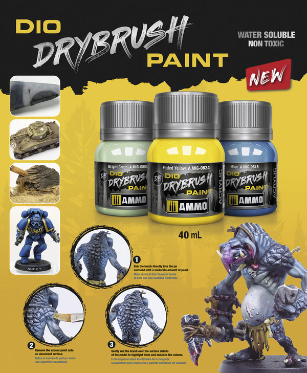 Dio Drybrush Paint 40ml - Ammo By Mig