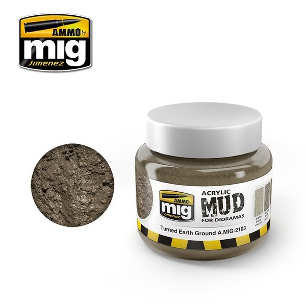 Acrylic Mud Range - Turned Earth - Ammo By Mig