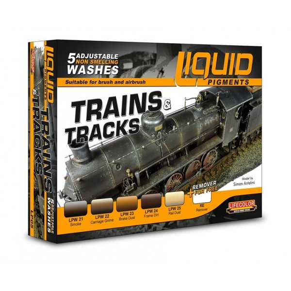 Lifecolor Liquid Pigments Trains and Tracks set