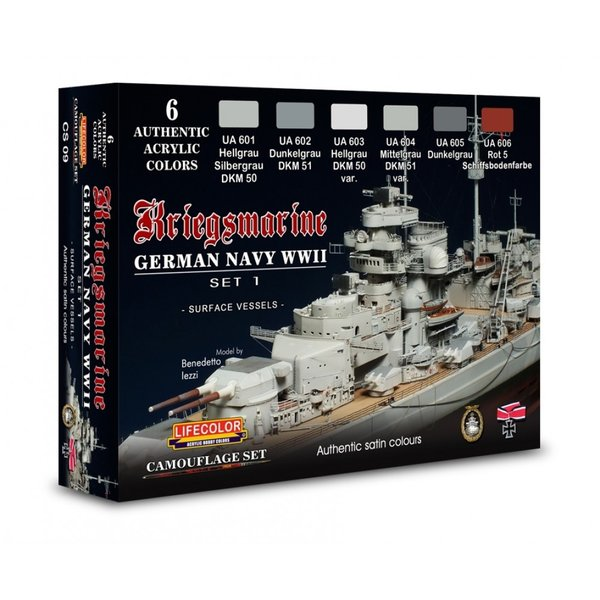 LifeColor German WWII Kriegsmarine Set 1 (22ml x 6)