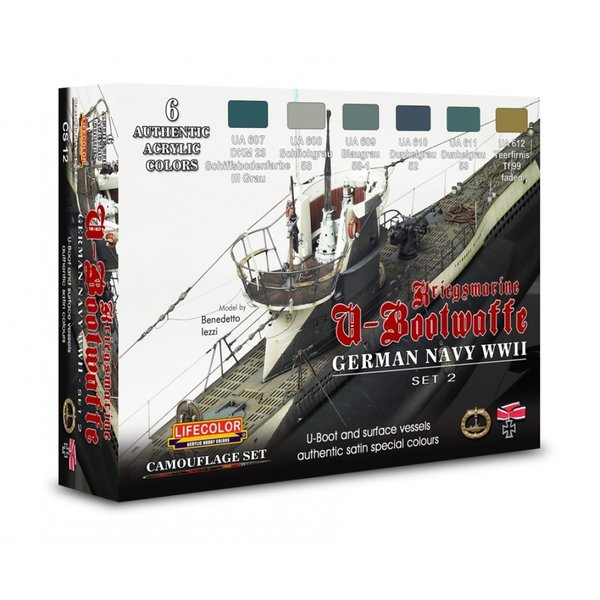 LifeColor German WWII Kriegsmarine U-Boat Set 2 (22ml x 6)