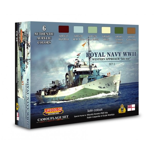 LifeColor Royal Navy WWII Western Approach - Late War Set 2 (22ml x 6)