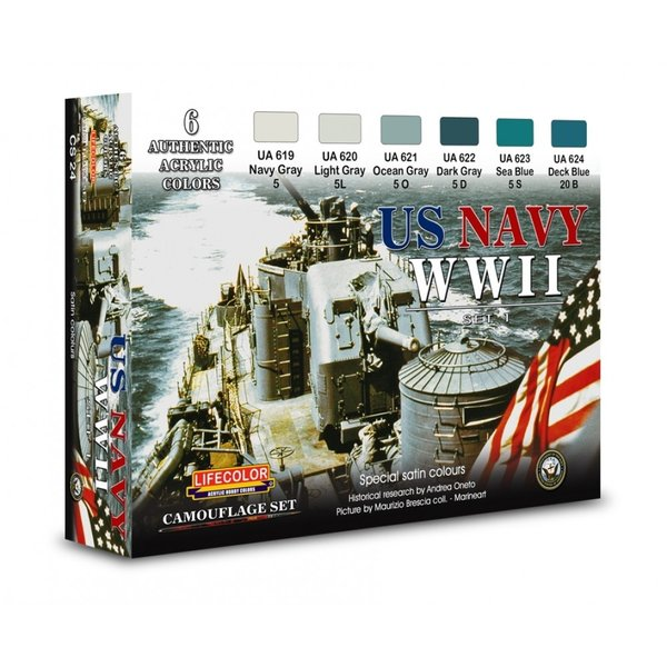 LifeColor U.S. Navy WWII Set 1 (22ml x 6)
