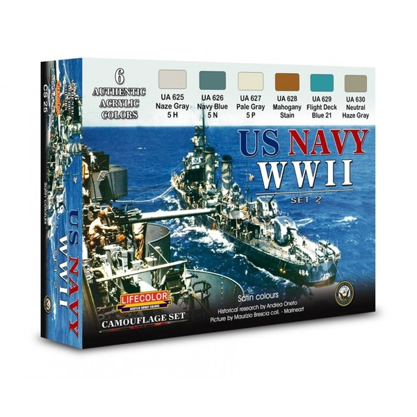 LifeColor U.S. Navy WWII Set 2 (22ml x 6)