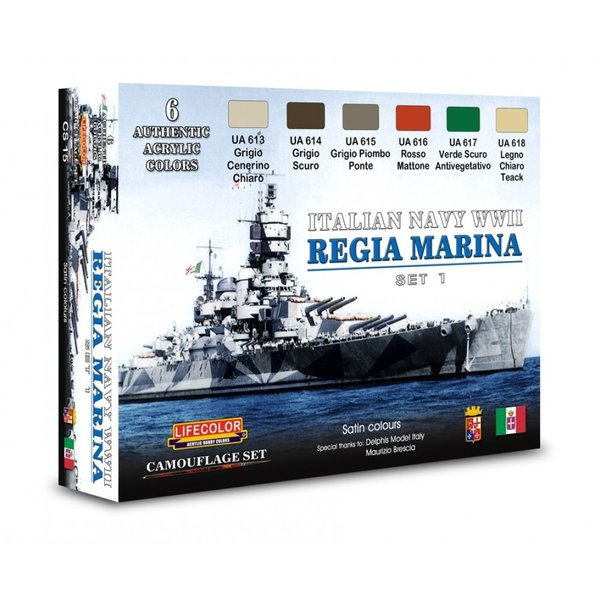 LifeColor Italian Navy WWII Set (22ml x 6)